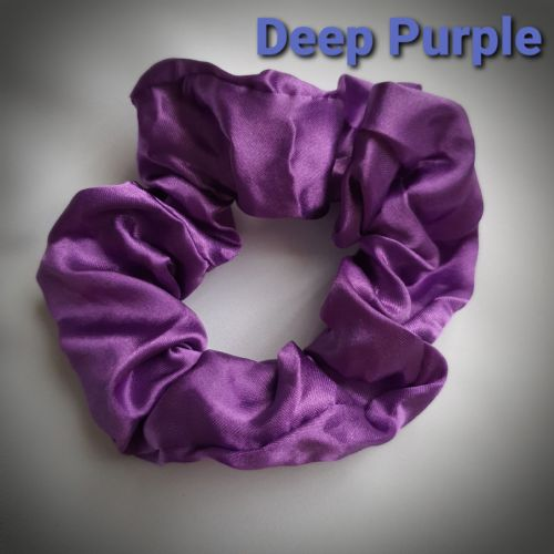 Deep Purple Satin Scrunchie